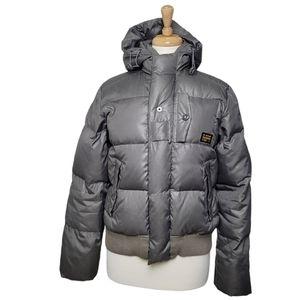 G-STAR Jacket Puffer Hoodie Winter Padded Grey